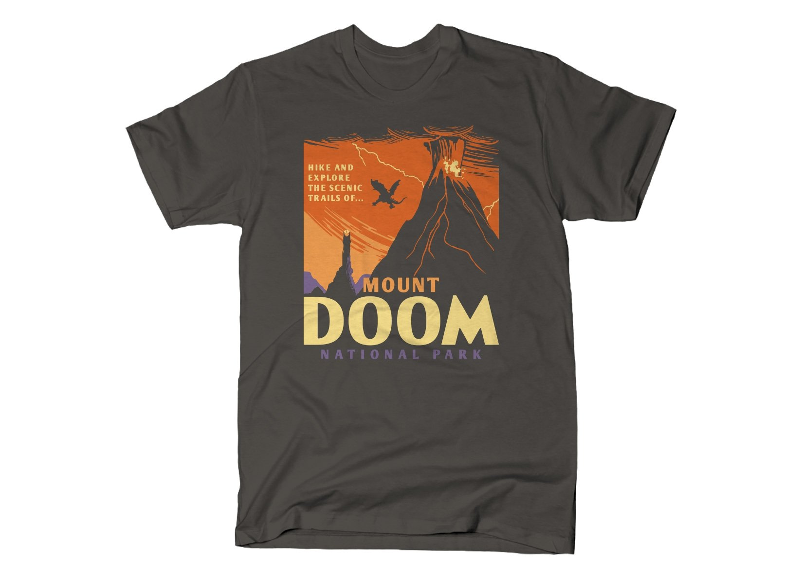 Mount Doom National Park on Mens T-Shirt