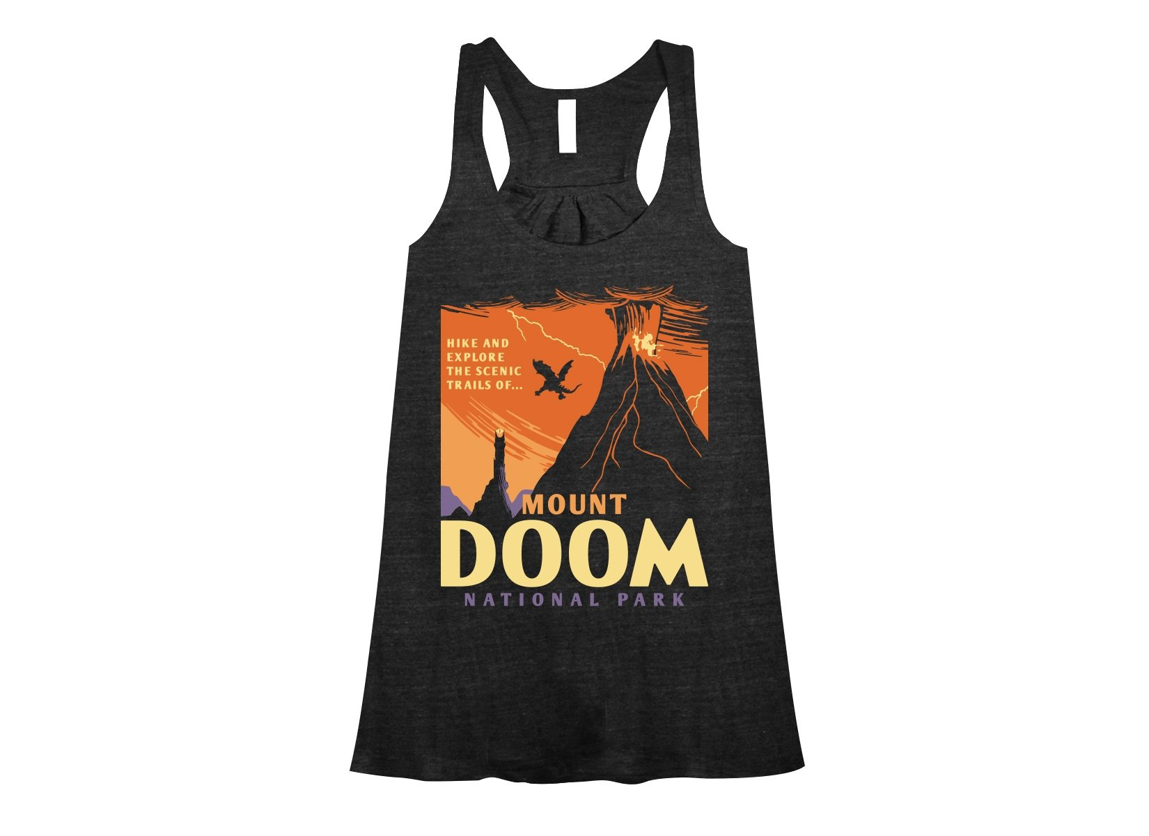 Mount Doom National Park on Womens Tanks T-Shirt