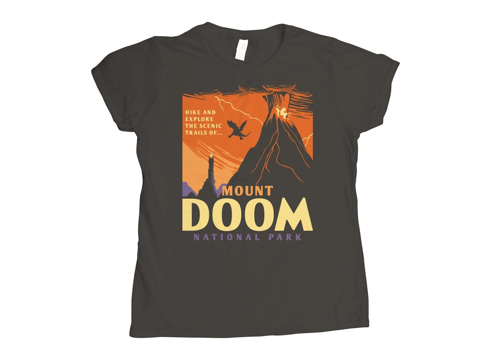 Mount Doom National Park on Womens T-Shirt
