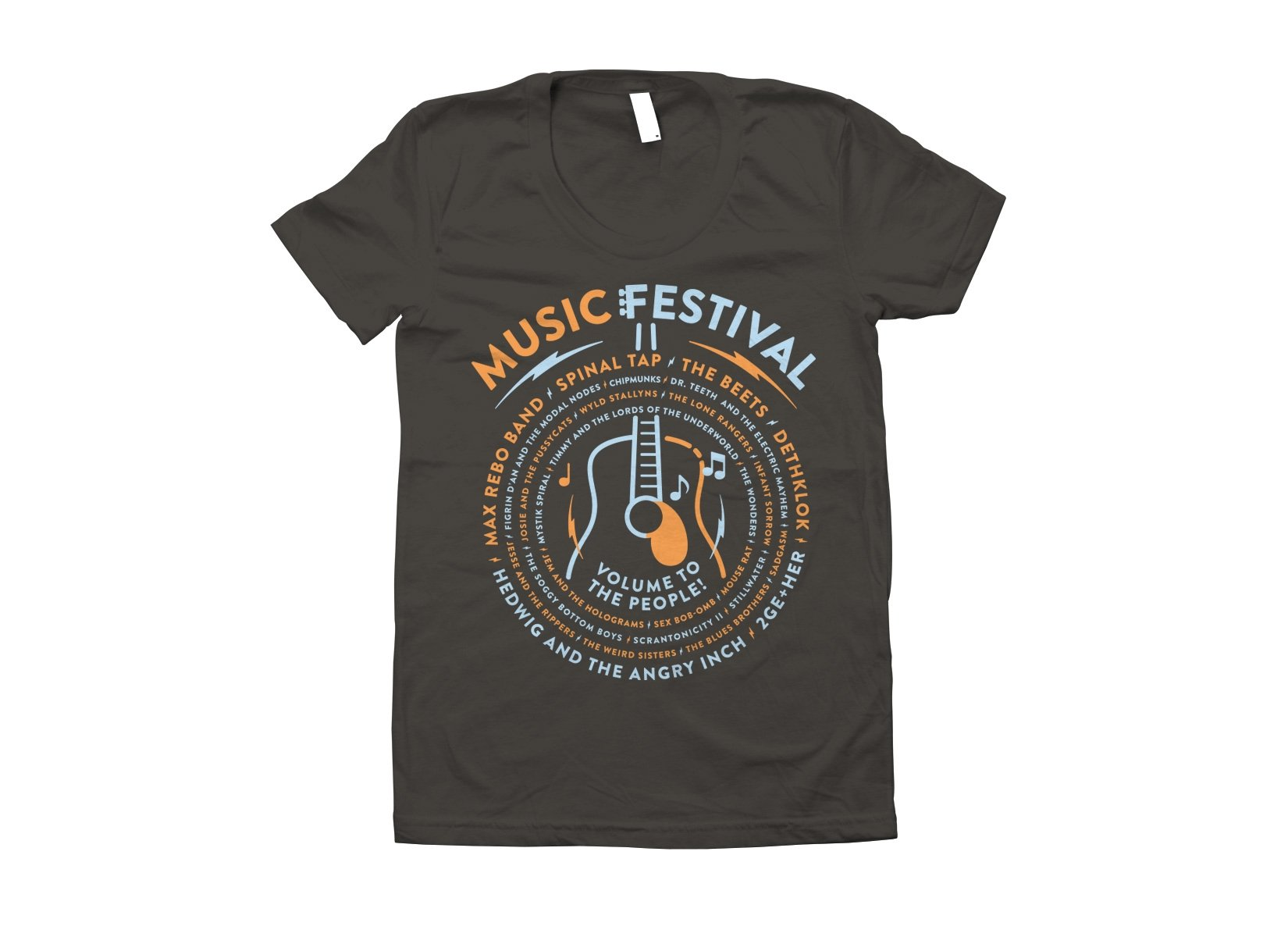 Music Festival on Juniors T-Shirt