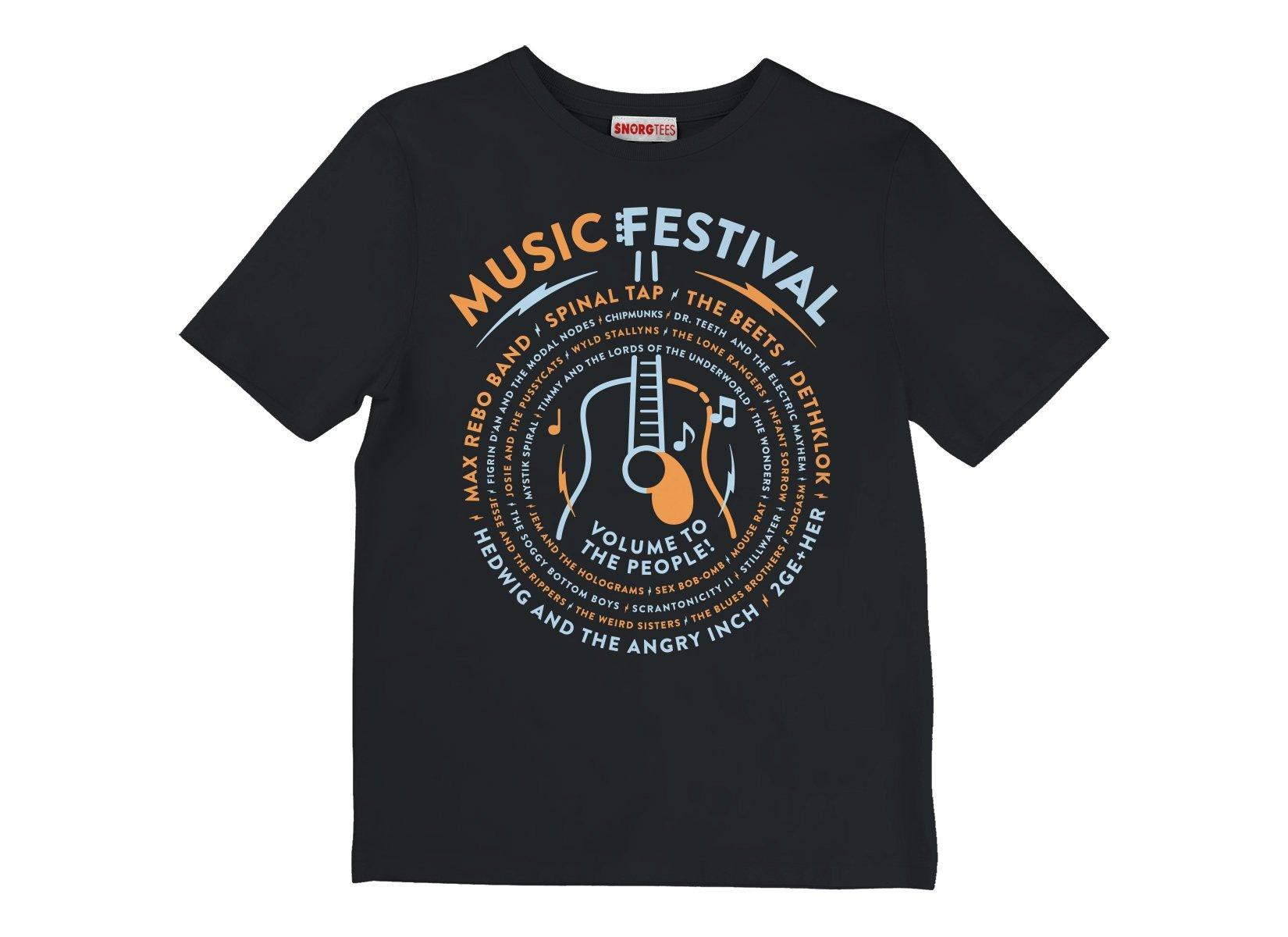 Music Festival on Kids T-Shirt