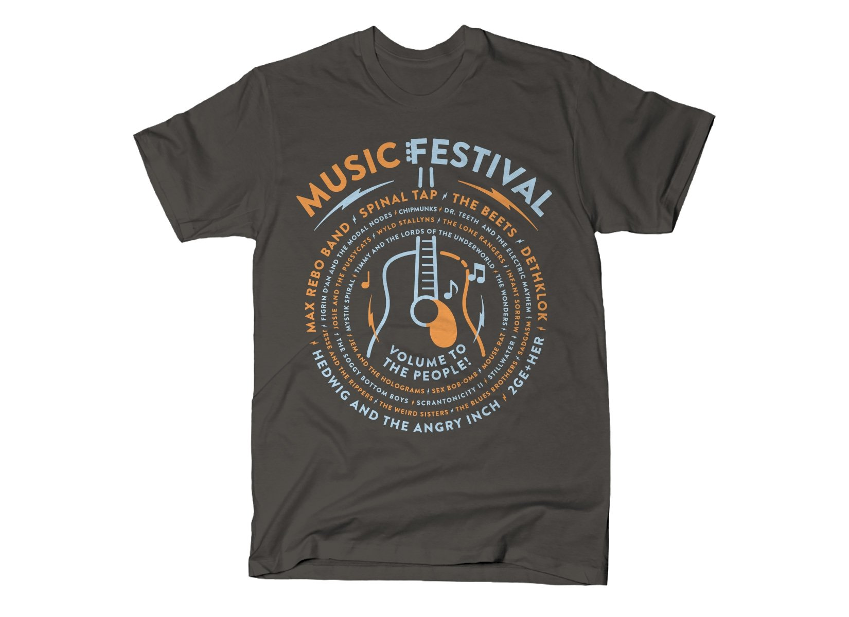 Music Festival on Mens T-Shirt