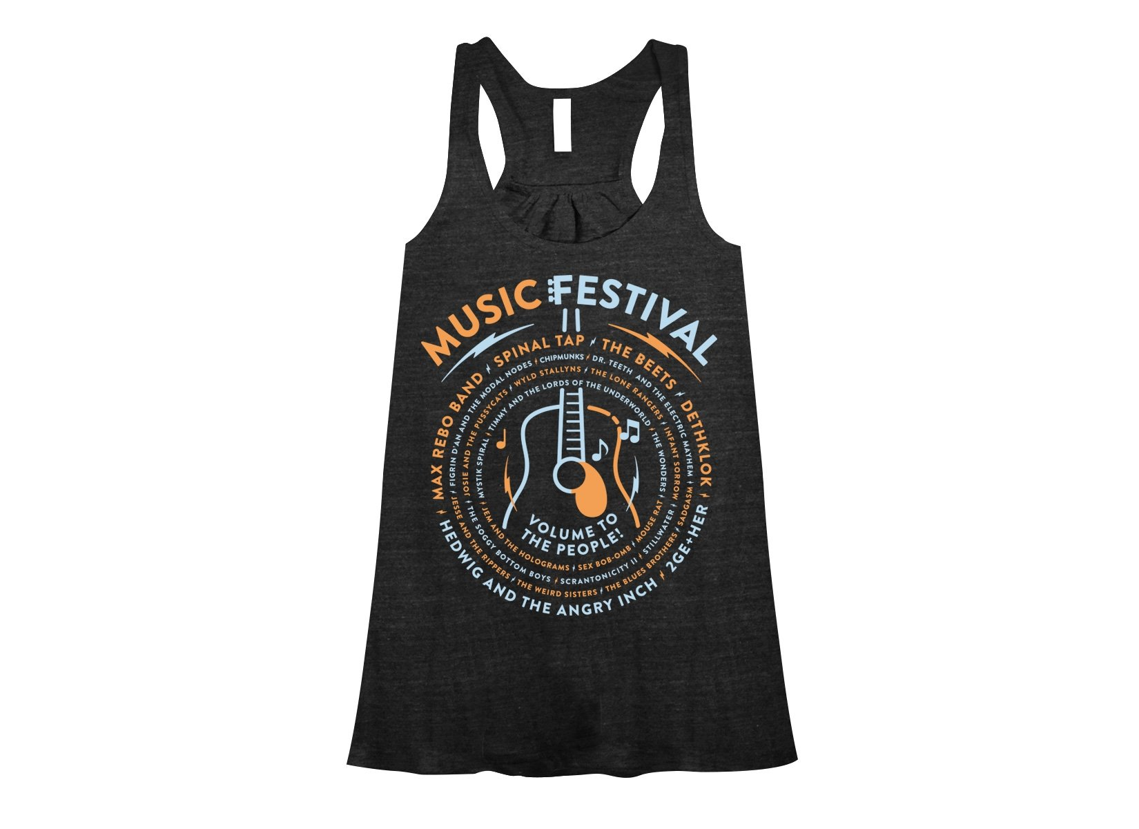 Music Festival on Womens Tanks T-Shirt