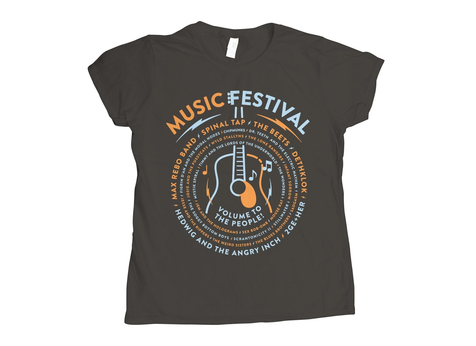 Music Festival on Womens T-Shirt