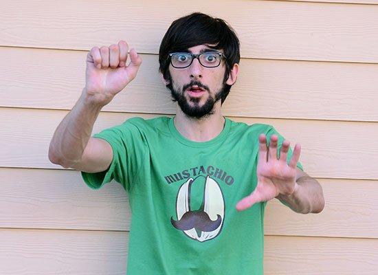 Mustachio on Mens T-Shirt