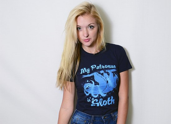 My Patronus Is A Sloth on Juniors T-Shirt