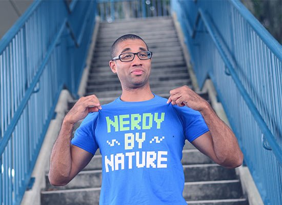 Nerdy By Nature on Mens T-Shirt