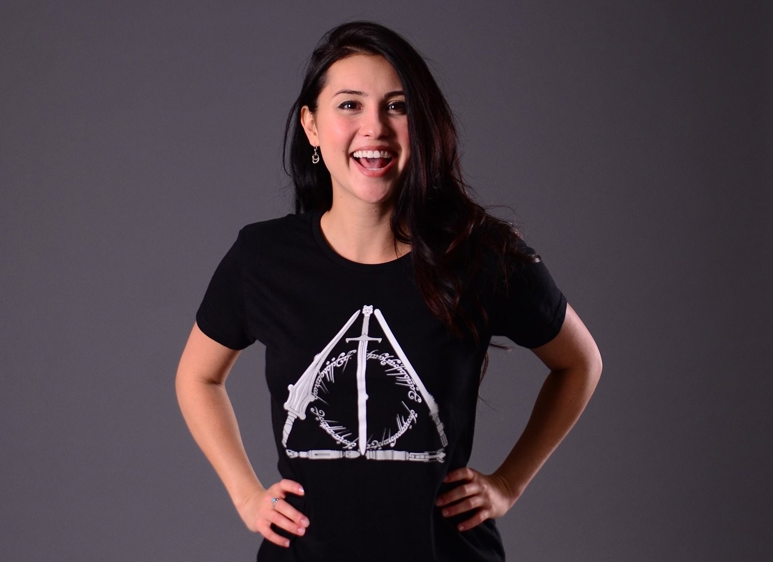 Nerdy Hallows on Womens T-Shirt