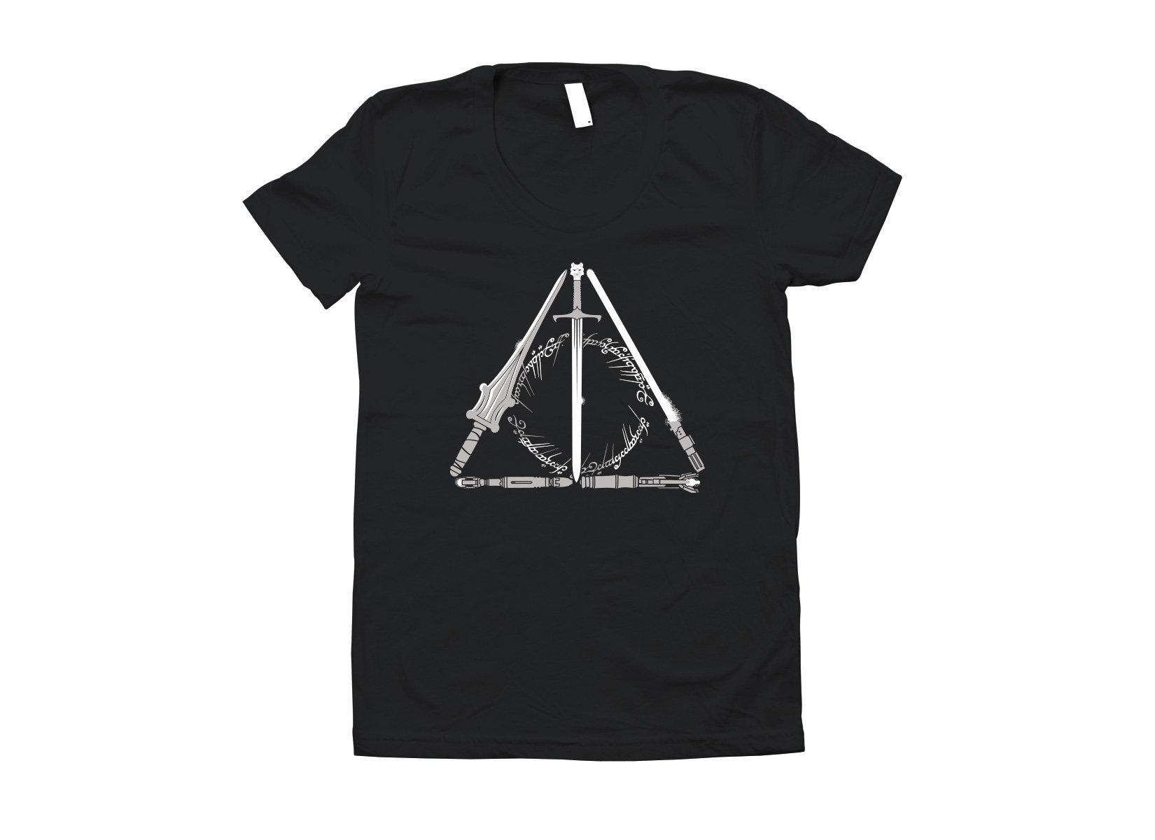 Nerdy Hallows on Juniors T-Shirt