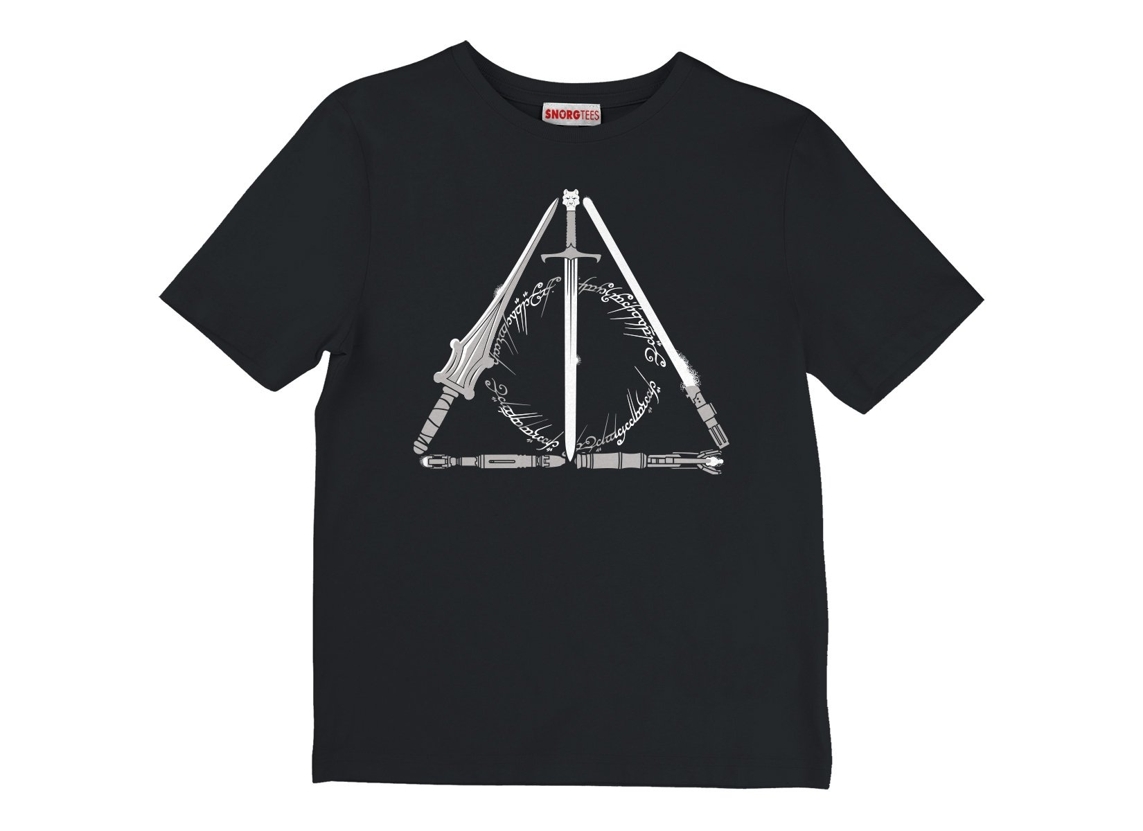 Nerdy Hallows on Kids T-Shirt