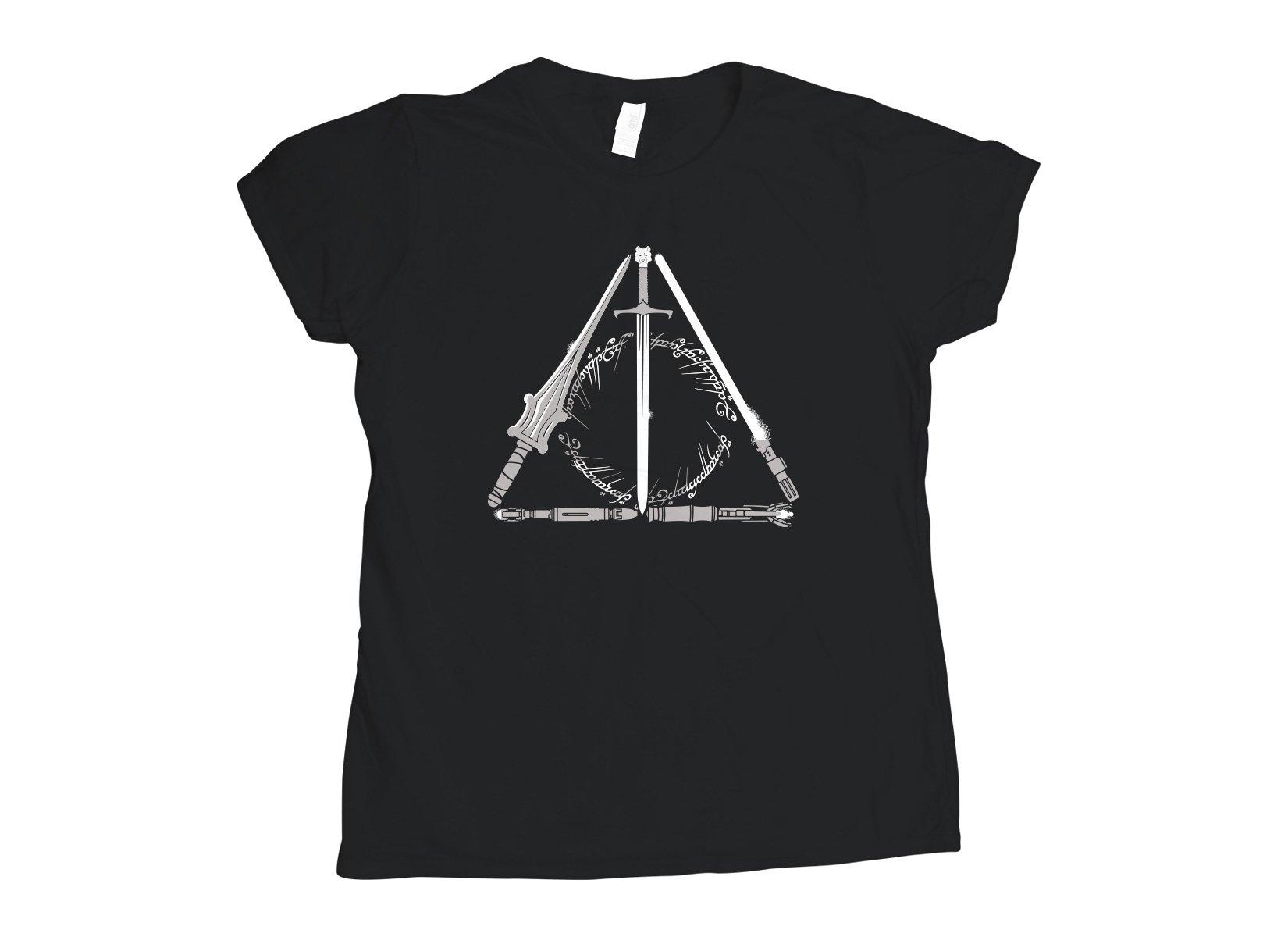 Nerdy Hallows on Womens T-Shirt