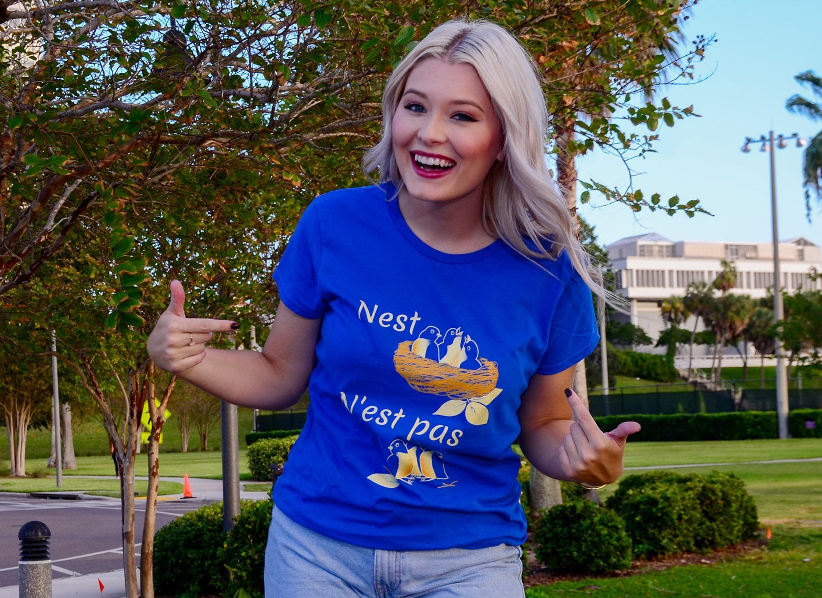 Nest N'est Pas on Womens T-Shirt