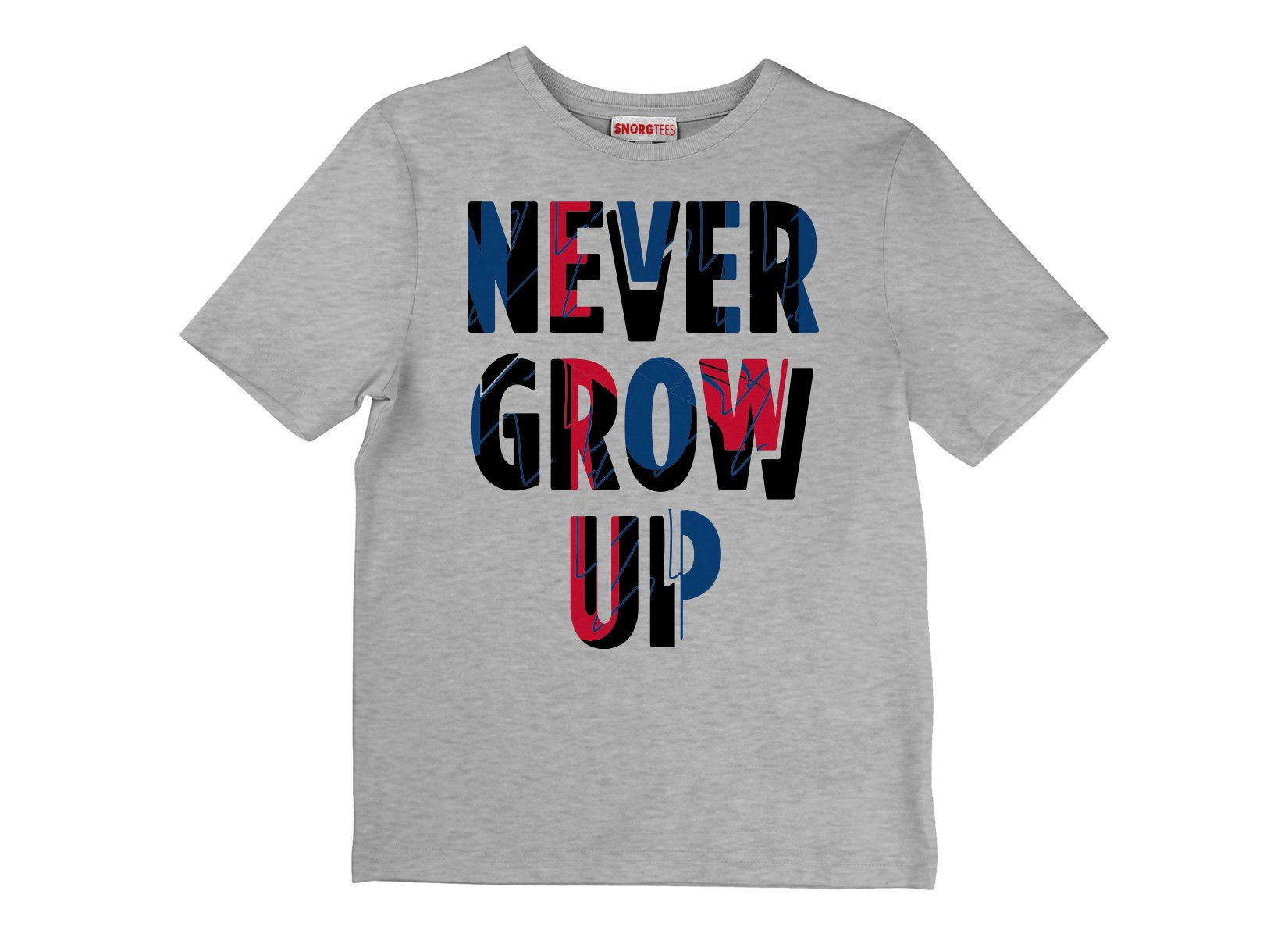 Never Grow Up on Kids T-Shirt