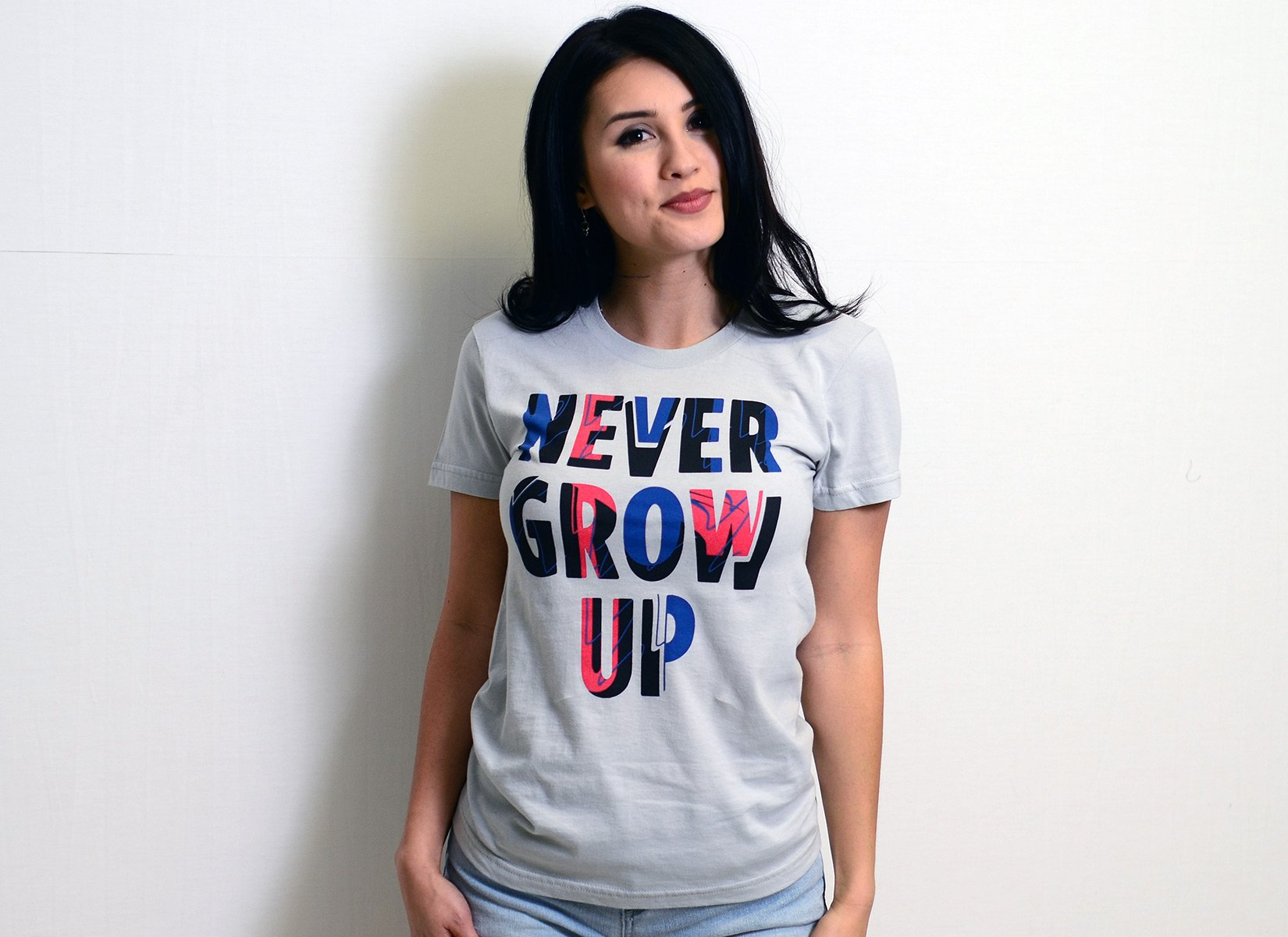 Never Grow Up on Juniors T-Shirt