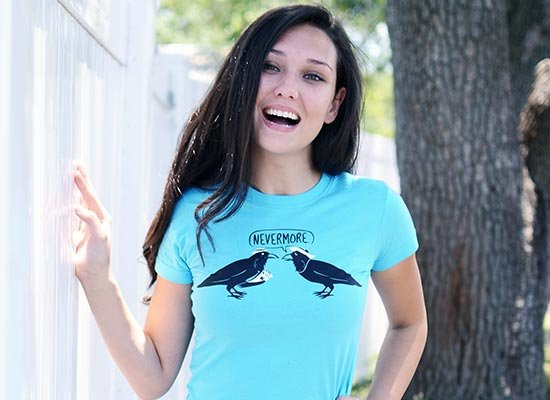 Nevermore on Juniors T-Shirt