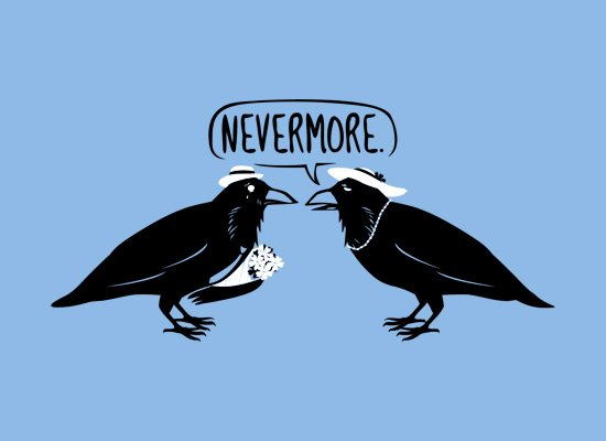 Nevermore on Mens T-Shirt