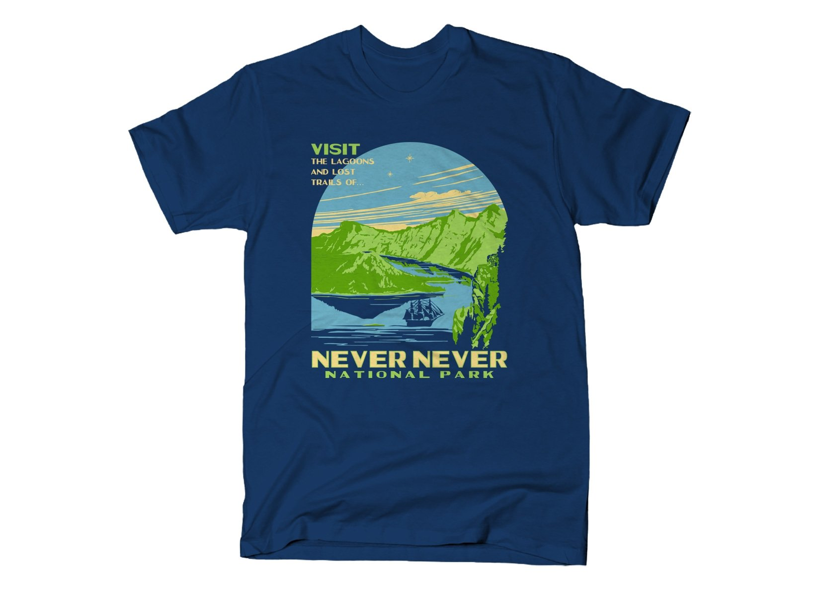 Never Never National Park on Mens T-Shirt