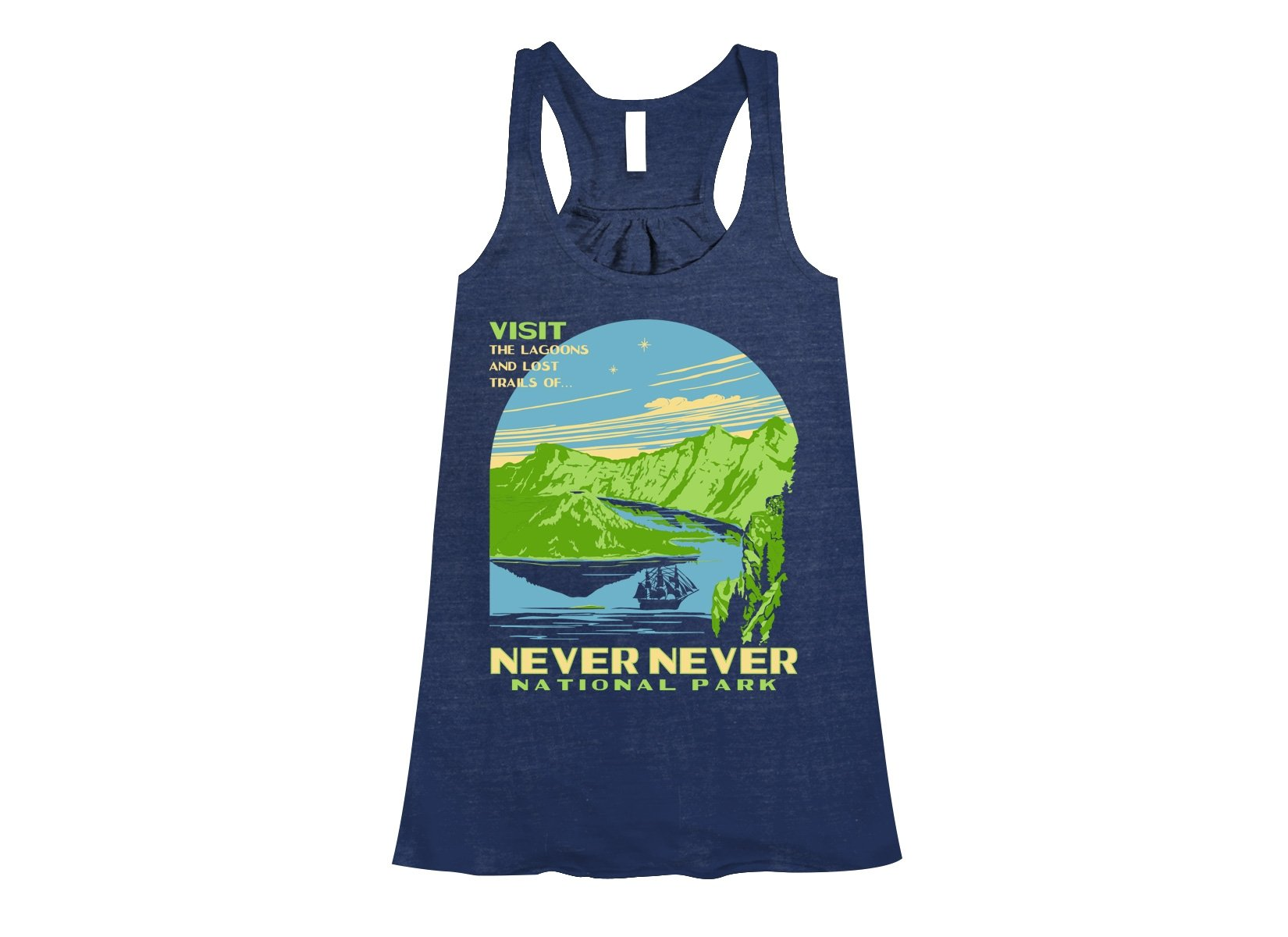 Never Never National Park on Womens Tanks T-Shirt