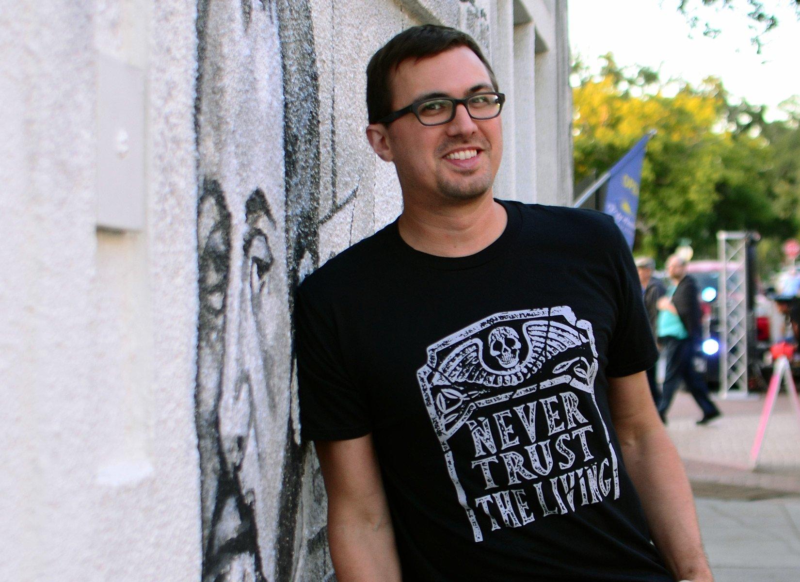 Never Trust The Living on Mens T-Shirt