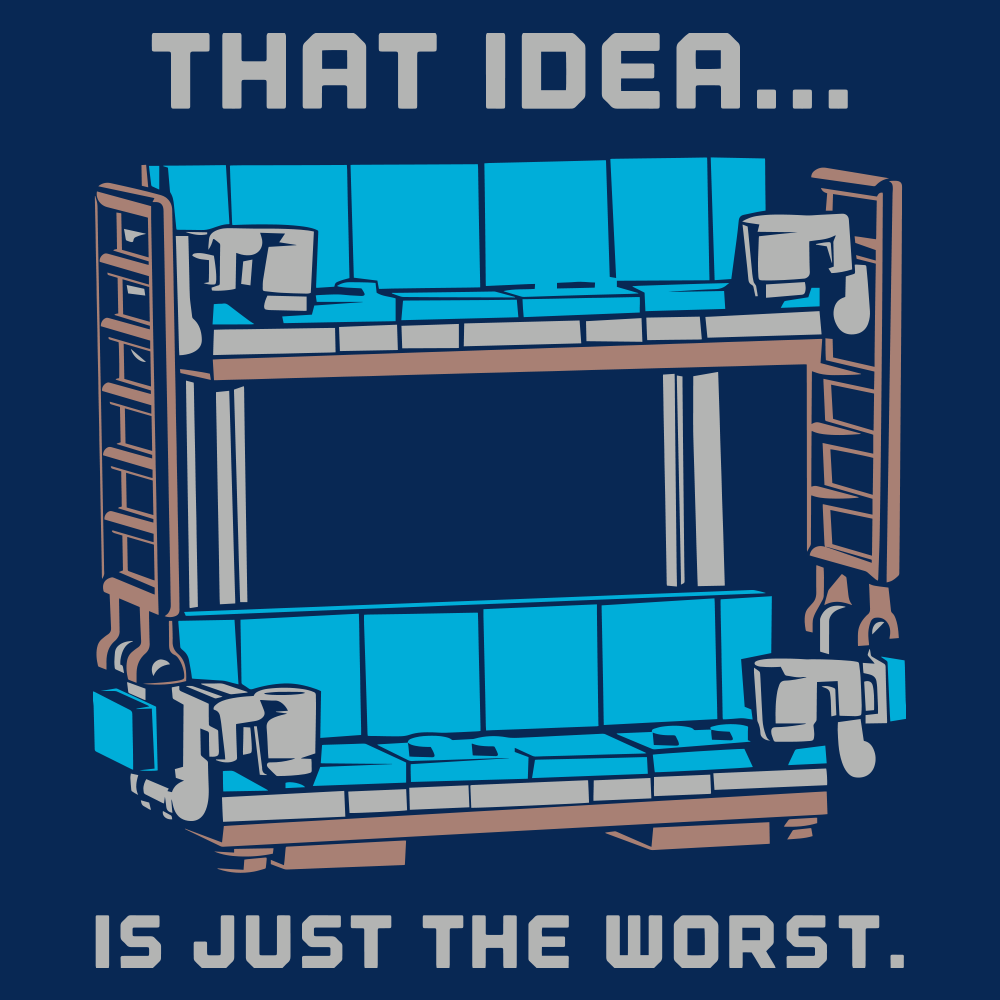 Decke Couch: Double Decker Couch T-Shirt