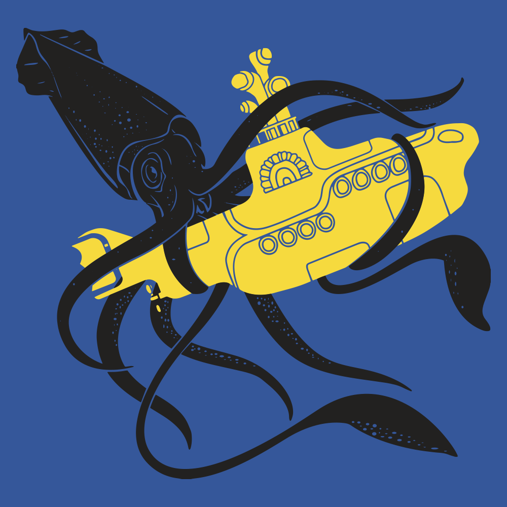 Squid sub battle t shirt snorgtees squid sub battle pooptronica