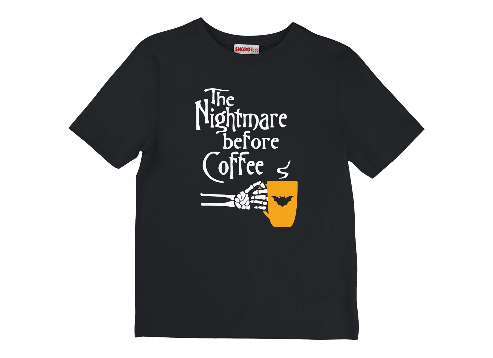 The Nightmare Before Coffee on Kids T-Shirt