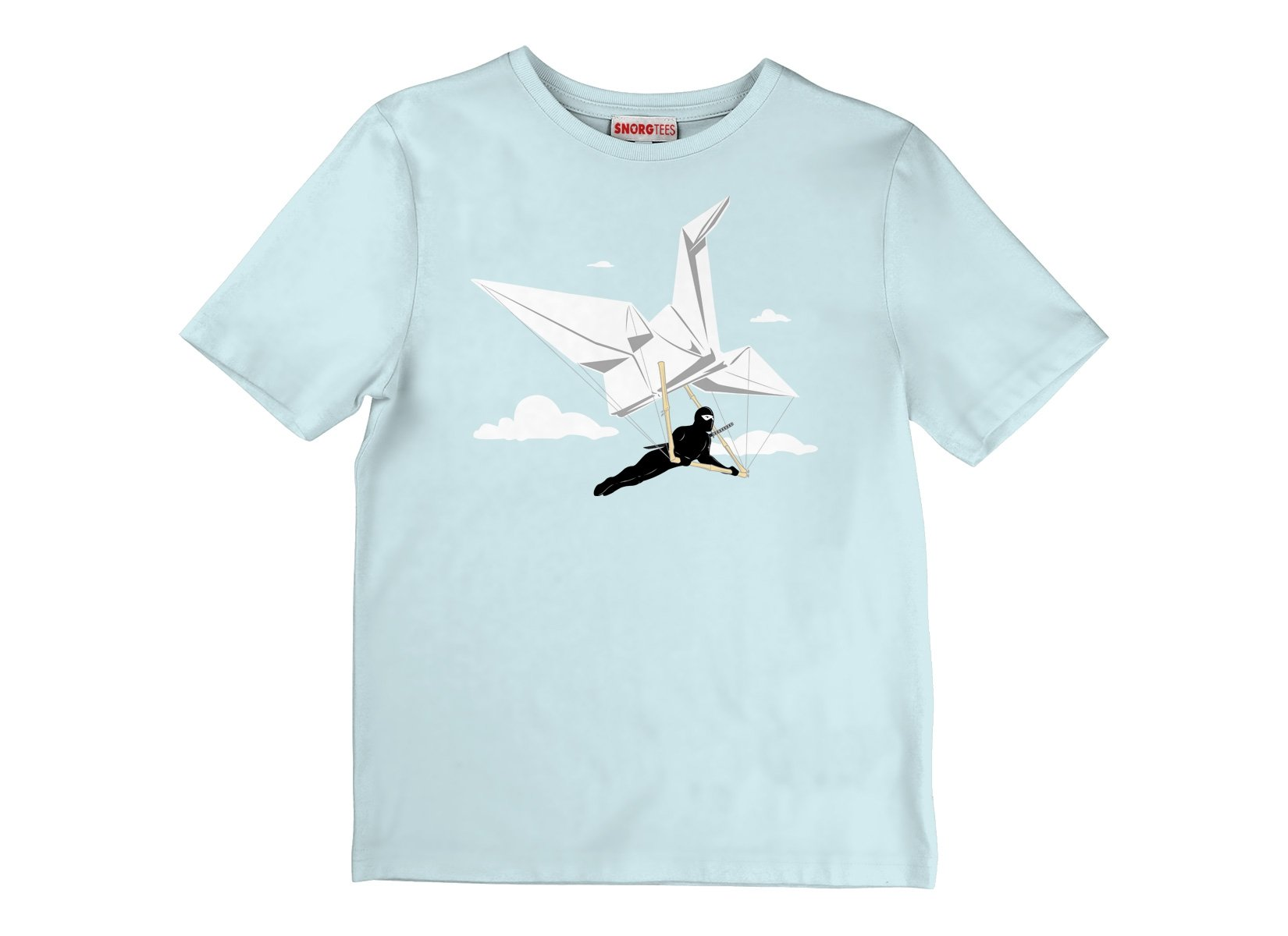 Ninja Glider on Kids T-Shirt