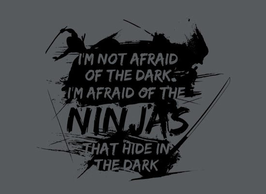 I'm Not Afraid of the Dark on Mens T-Shirt