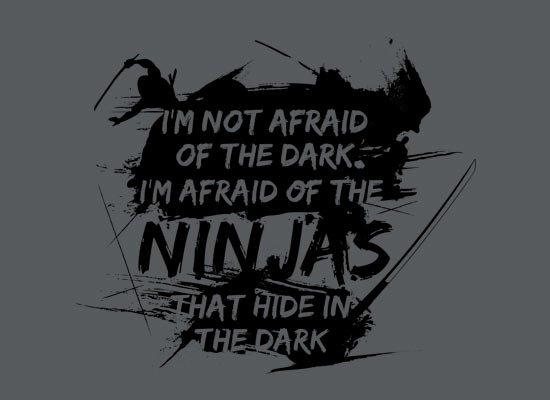 I'm Not Afraid of the Dark on Mens T-Shirt