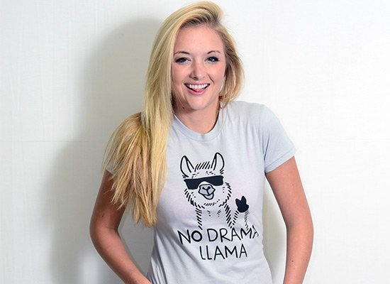No Drama Llama on Juniors T-Shirt