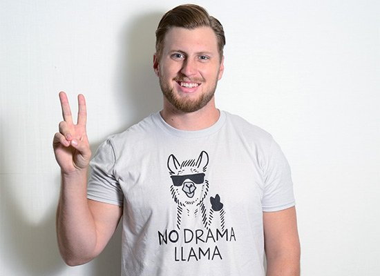 No Drama Llama on Mens T-Shirt