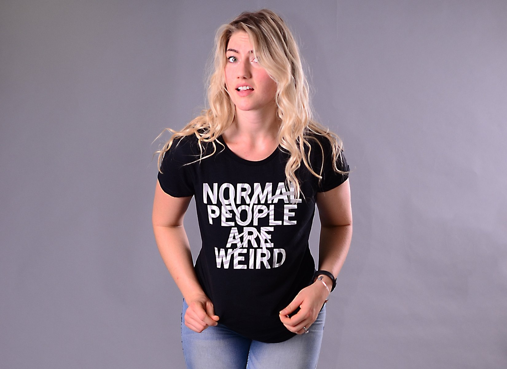 Normal People Are Weird on Womens T-Shirt