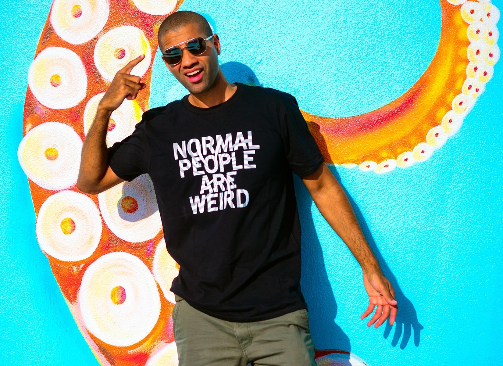 Normal People Are Weird on Mens T-Shirt