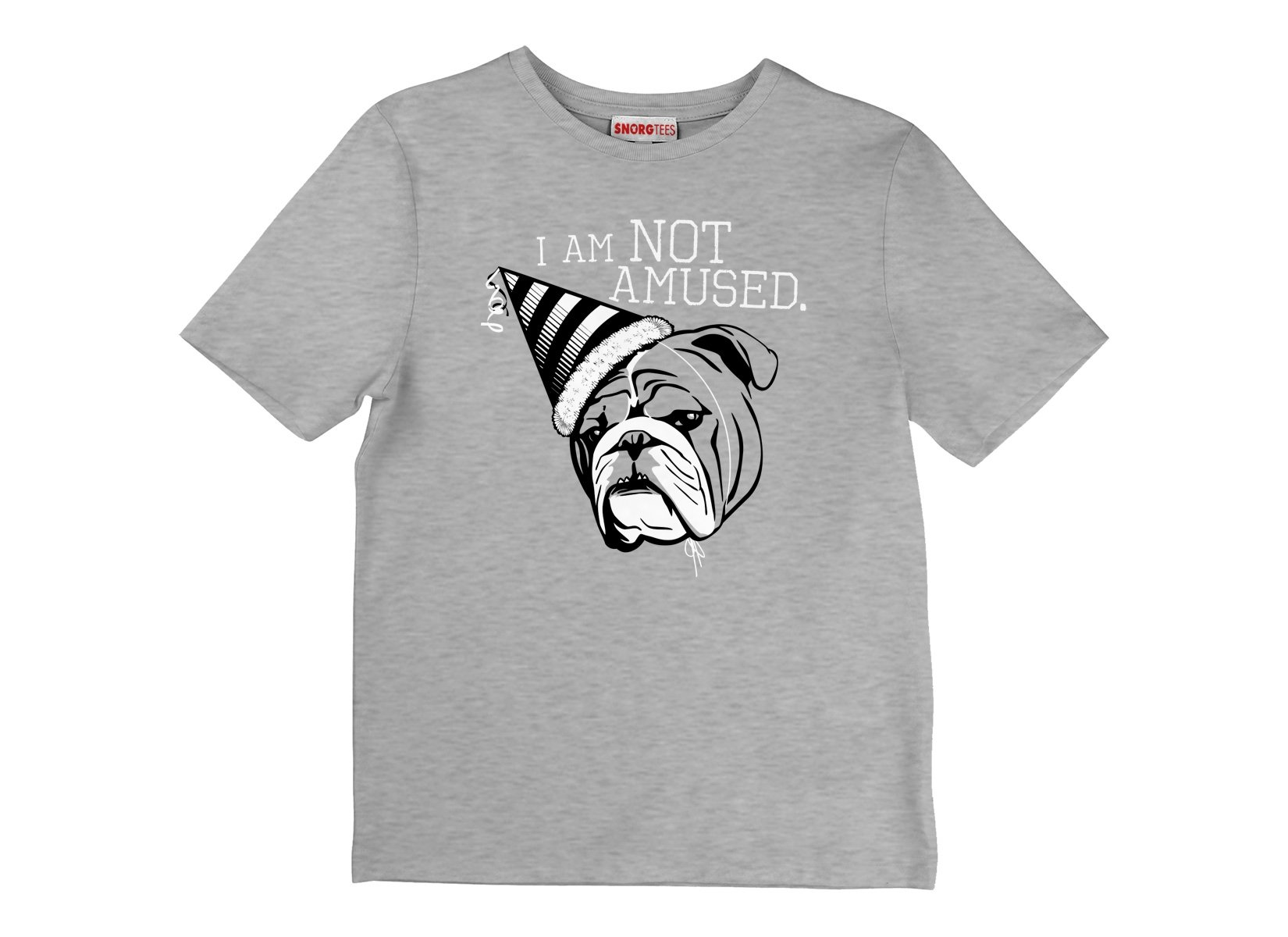 I Am Not Amused on Kids T-Shirt