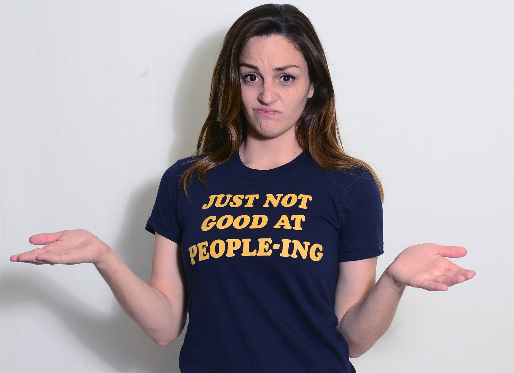 Just Not Good At People-ing on Juniors T-Shirt