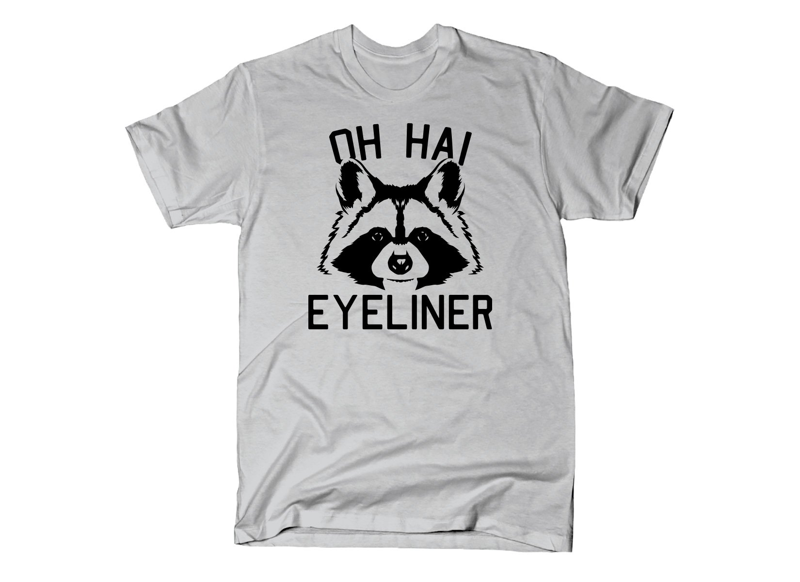 Oh Hai Eyeliner on Mens T-Shirt