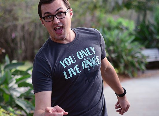 You Only Live 9 on Mens T-Shirt