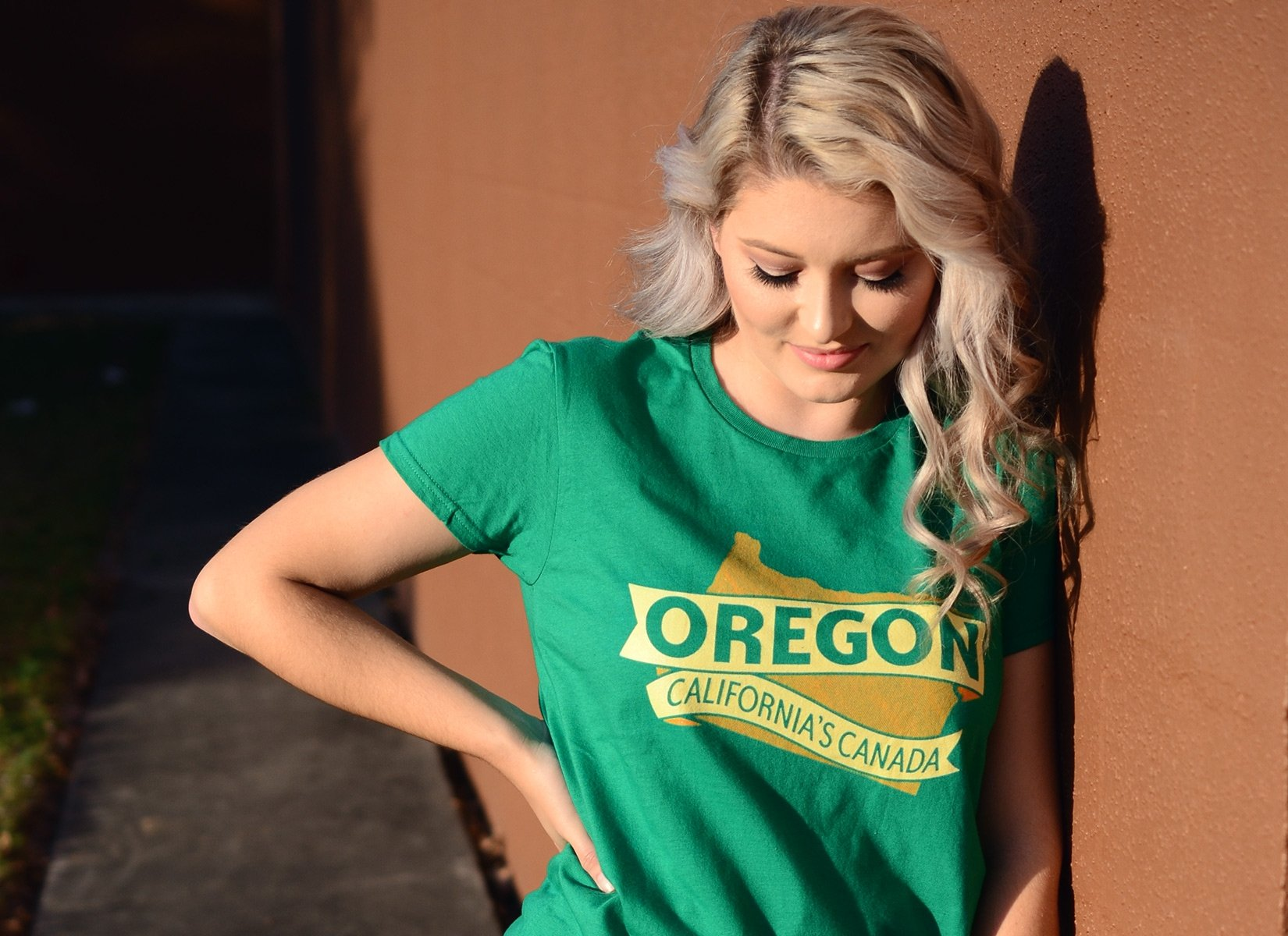 Oregon California's Canada on Womens T-Shirt
