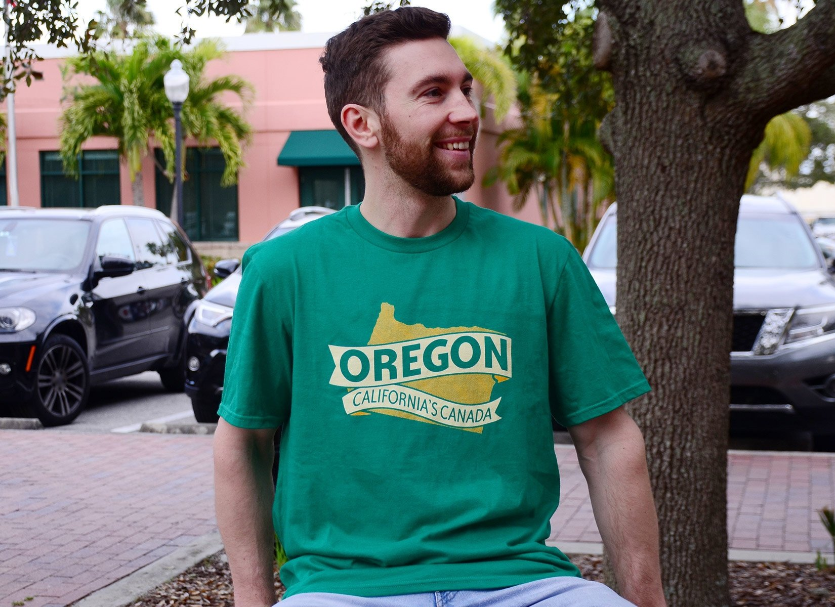 Oregon California's Canada on Mens T-Shirt
