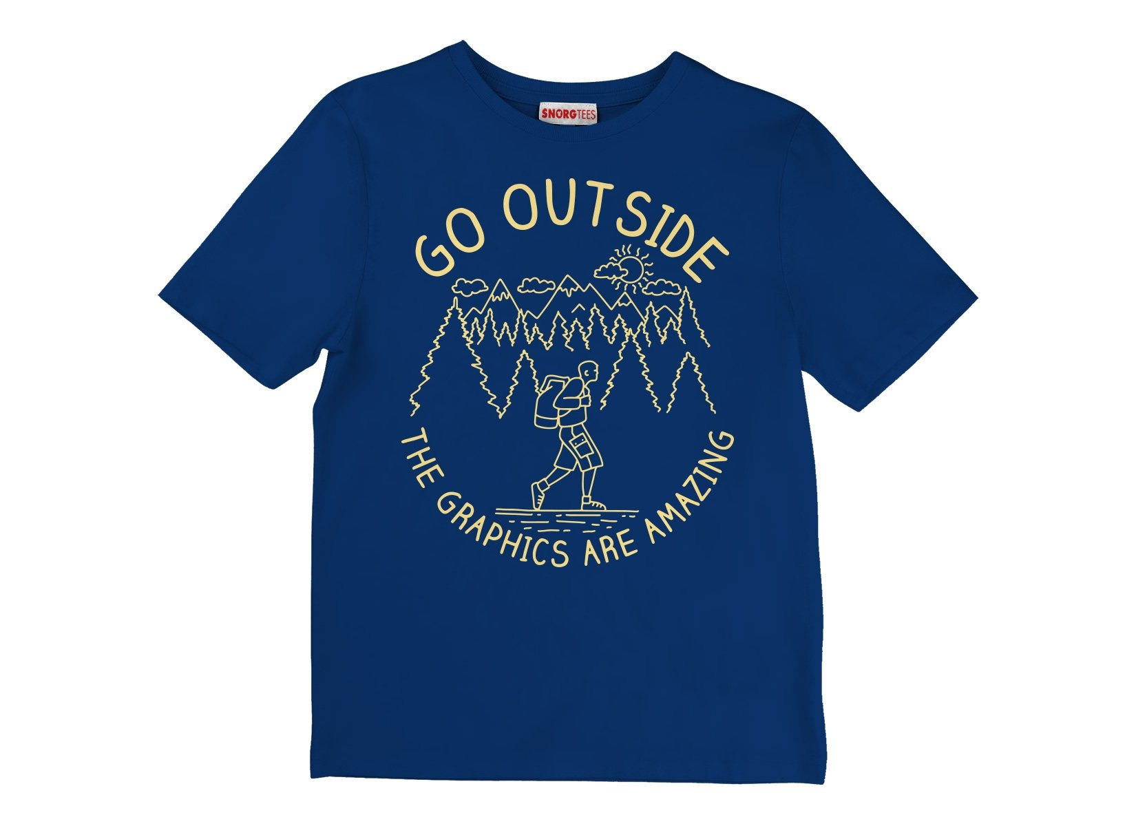 Go Outside The Graphics Are Amazing on Kids T-Shirt