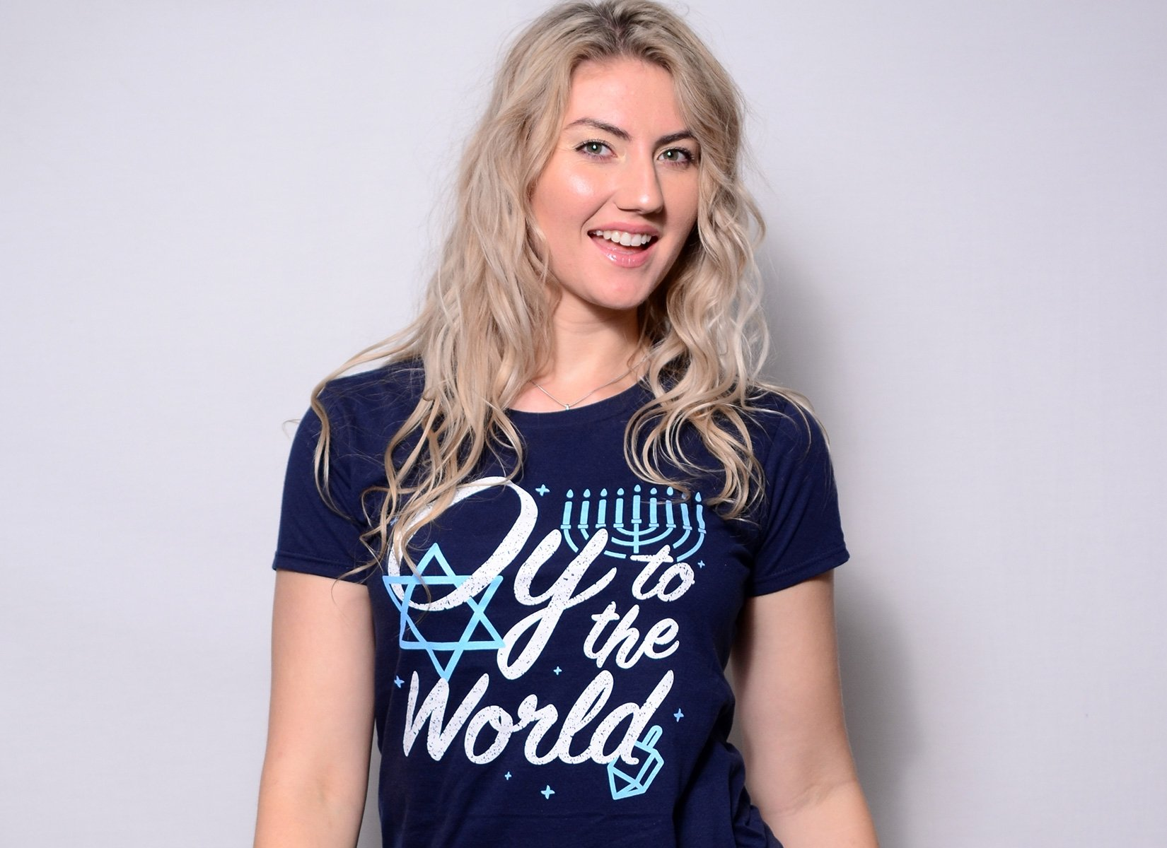 Oy To The World on Womens T-Shirt