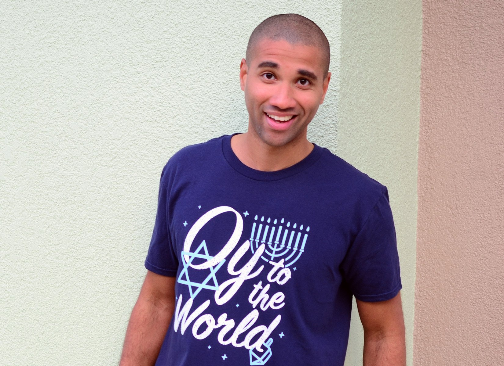Oy To The World on Mens T-Shirt