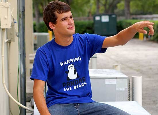 Warning, Pandas Are Bears on Mens T-Shirt