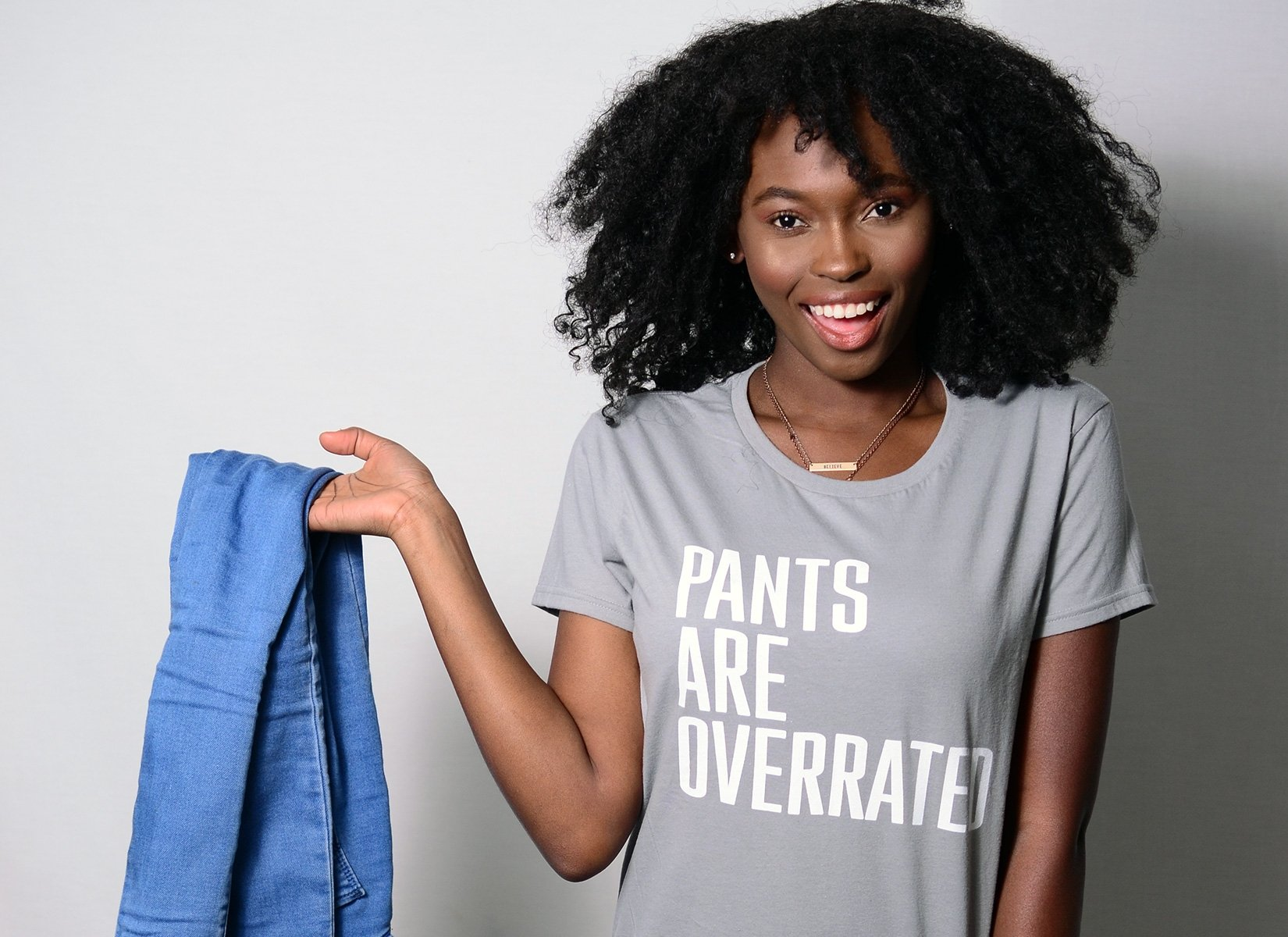 Pants Are Overrated on Womens T-Shirt
