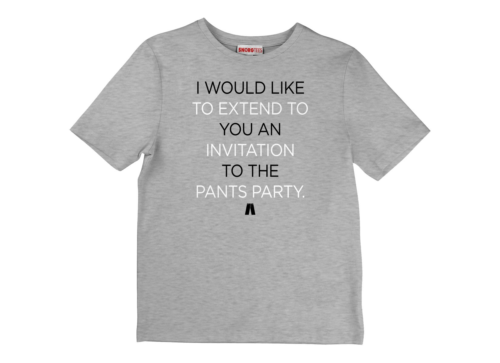 Invitation To The Pants Party on Kids T-Shirt