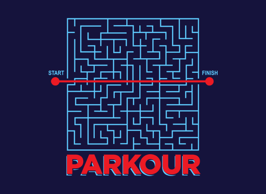 Parkour on Mens T-Shirt