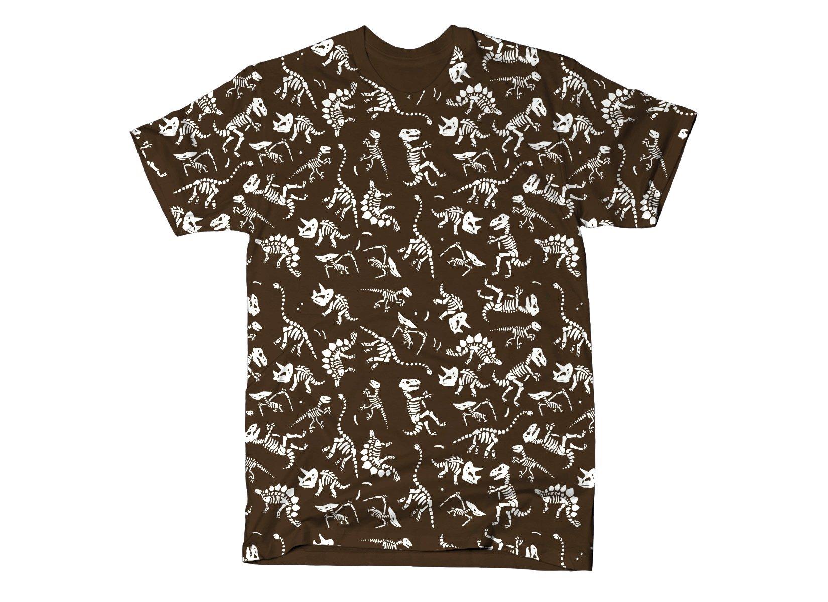 Dinos Pattern print on Mens T-Shirt