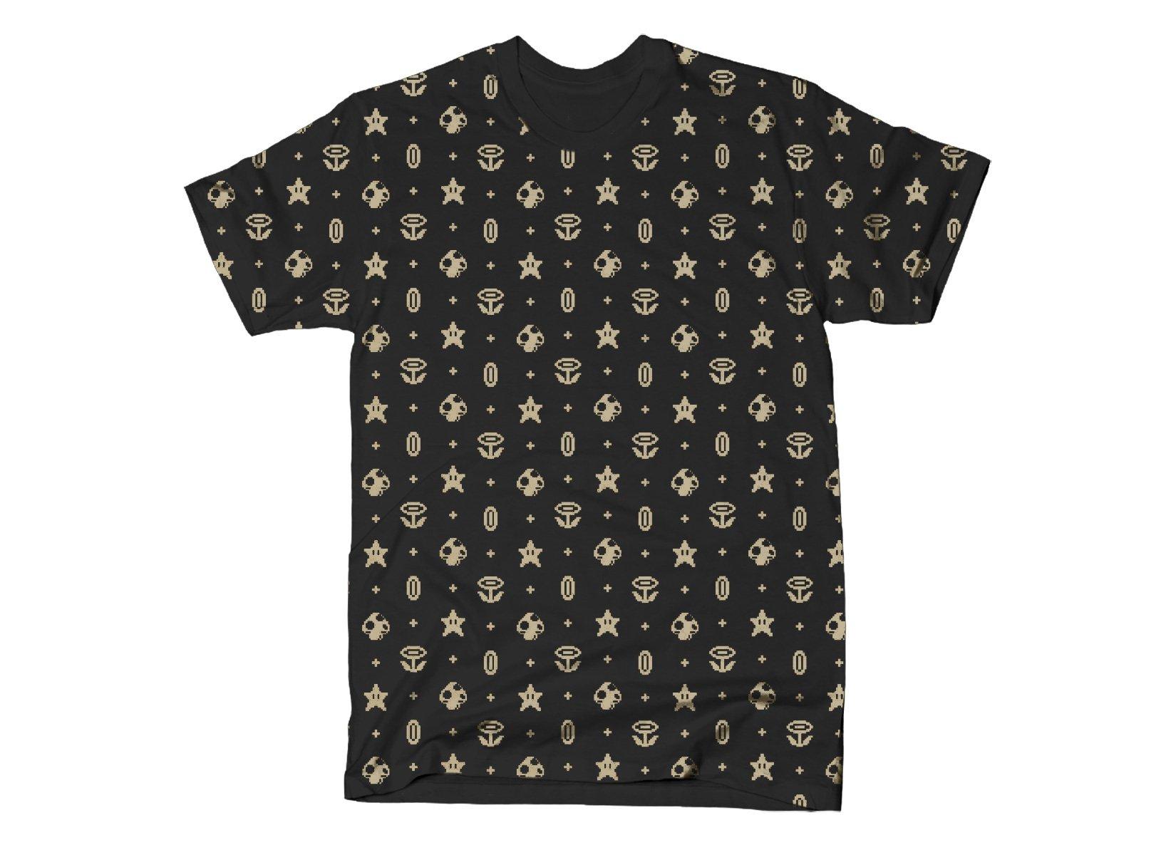 Pixels Pattern print on Mens T-Shirt