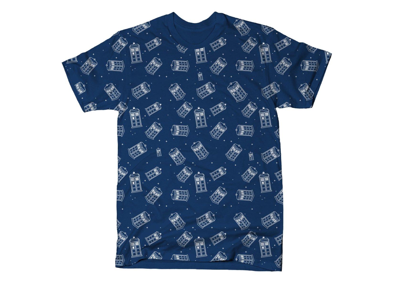 Police Box Pattern print on Mens T-Shirt