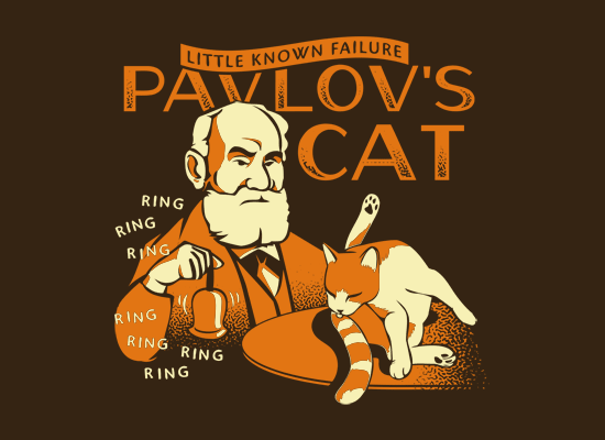 Pavlov's Cat on Mens T-Shirt
